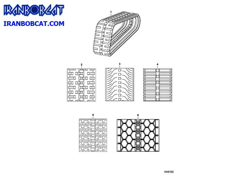 سایز و عاج لاستیک زنجیری بابکت (Bobcat)