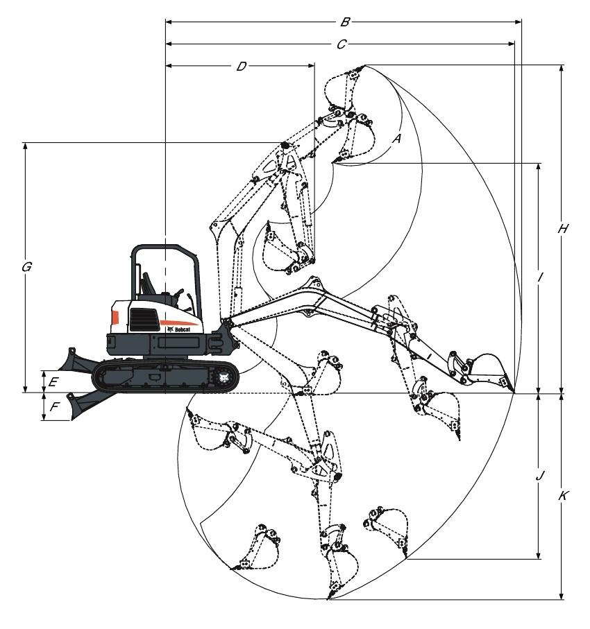 بیل مکانیکی بابکت Bobcat E50