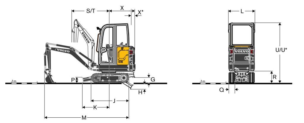 بیل مکانیکی ولوو EC15E