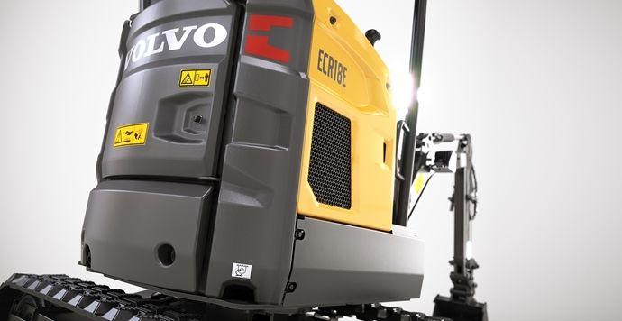 مینی بیل ولوو Volvo ECR18E